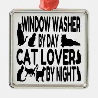 Cat Lover Window Washer Ornaments