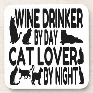 Cat Lover Wine Drinker Coaster