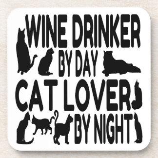 Cat Lover Wine Drinker Coaster