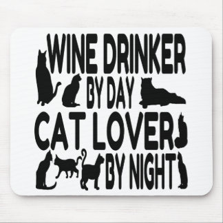 Cat Lover Wine Drinker Mouse Pad