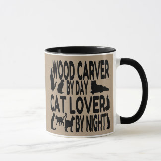 Cat Lover Wood Carver Mug