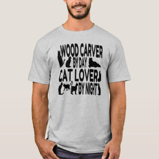 Cat Lover Wood Carver T-Shirt