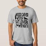 Cat Lover Wood Carver Tees