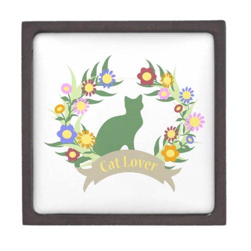 Cat Lover Wreath Jewelry Box