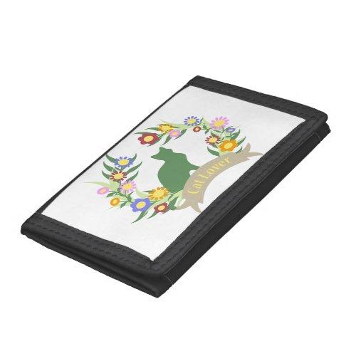 Cat Lover Wreath Tri-fold Wallet