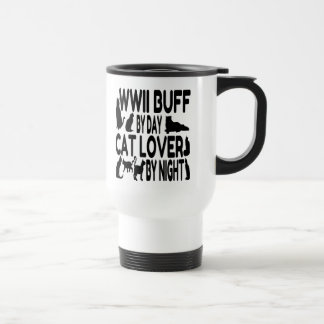 Cat Lover WWII Buff 15 Oz Stainless Steel Travel Mug