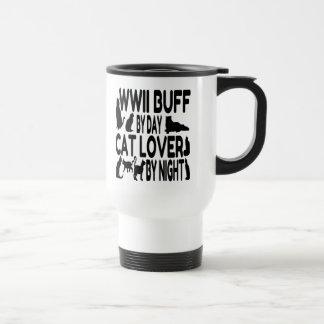 Cat Lover WWII Buff Travel Mug