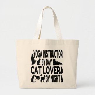 Cat Lover Yoga Instructor Canvas Bags