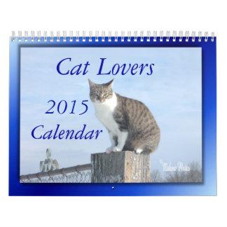 Cat Lovers 2014 Calendar--EDIT YEAR as needed Calendar