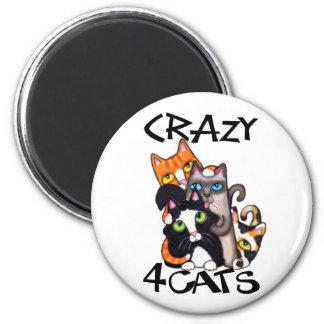 Cat Lover's 2 Inch Round Magnet