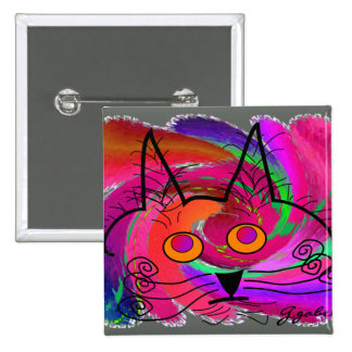 Cat Lovers abstract art gifts Pin