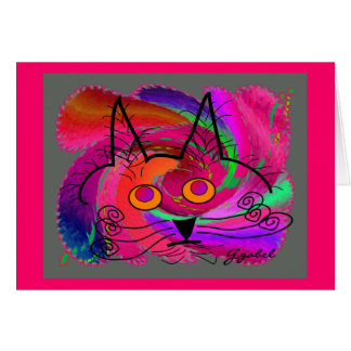 Cat Lovers abstract art gifts Cards