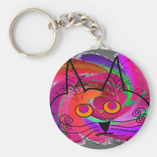 Cat Lovers abstract art gifts Keychain