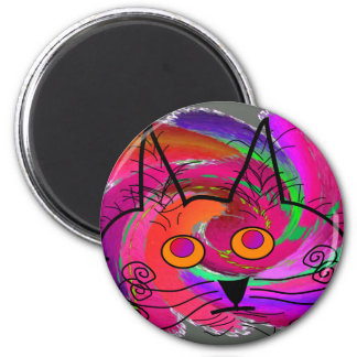 Cat Lovers abstract art gifts Refrigerator Magnet