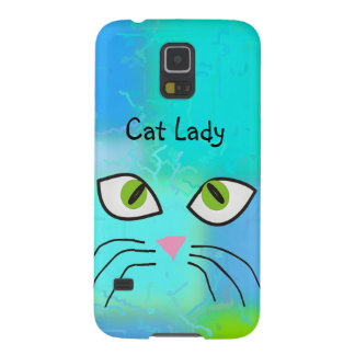 "Cat Lovers Art ""Cat Lady"" Cases For Galaxy S5"