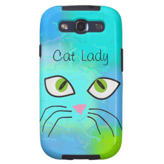 "Cat Lovers Art ""Cat Lady"" Galaxy SIII Cover"