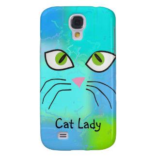 "Cat Lovers Art ""Cat Lady"" Samsung S4 Case"