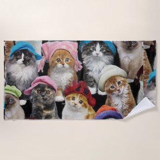 Cat Lovers Beach Towel