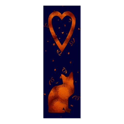cat lovers bookmark Double-Sided mini business cards (Pack of 20)