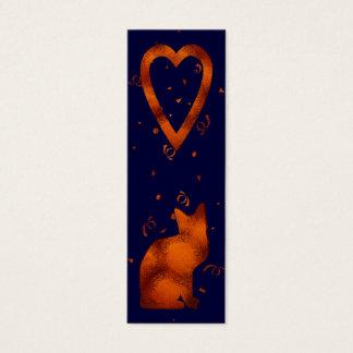 cat lovers bookmark mini business card