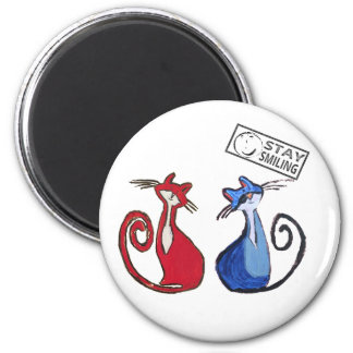 Cat Lover's Button Magnet