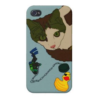 "Cat Lovers, ""Cat in a bath"" iPhone 4 Covers"