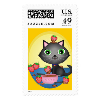 Cat Lover's Chocolate Fondue Postage