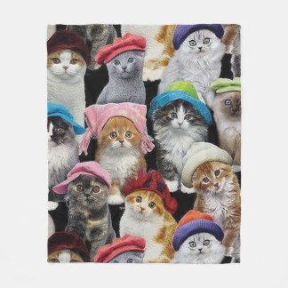 Cat Lovers Collage Fleece Blanket