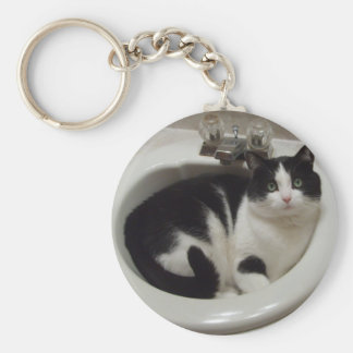 Cat lovers delight basic round button keychain