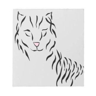 Cat Lovers Delight Ribbon Abstract Kitty Art Cat Memo Pad