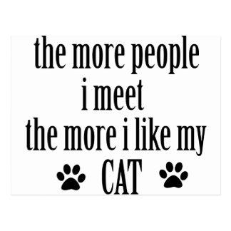 Cat lovers designs postcard