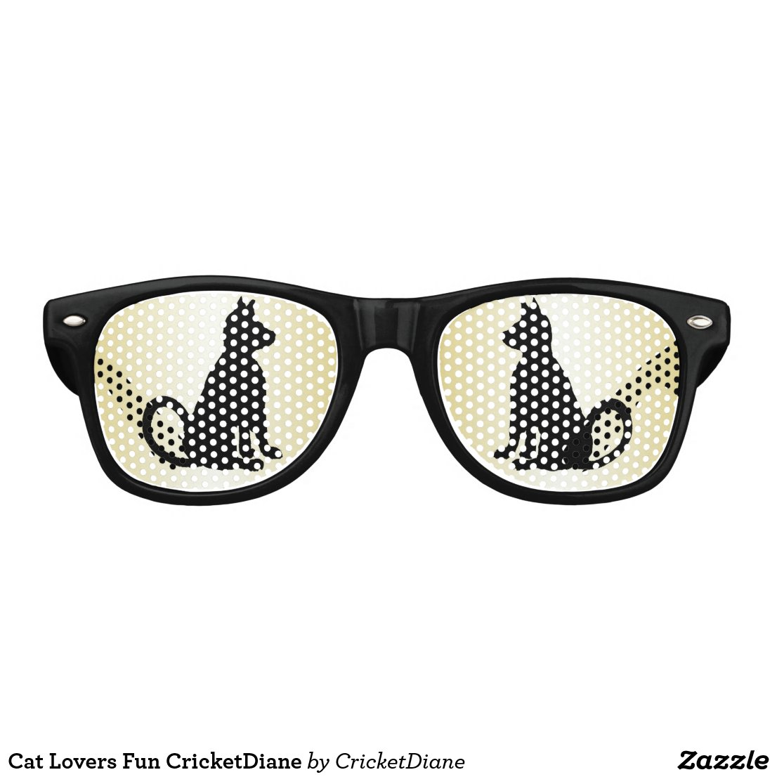 Cat Lovers Fun CricketDiane Retro Sunglasses