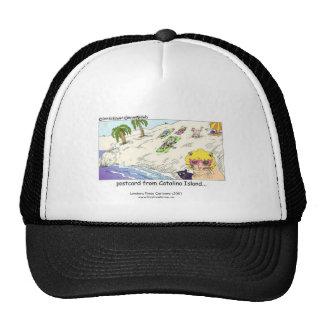 "Cat Lovers Funny Cap ""Cats From CATalina Island"" Trucker Hat"