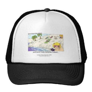 "Cat Lovers Funny Cap ""Cats From CATalina Island"" Trucker Hat"