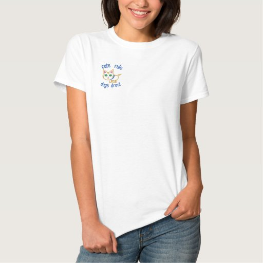 Cat Lover's Funny Design Embroidered Shirt