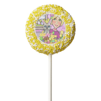 Cat Lovers Funny Easter Bunny Oreo® Cookie Pops