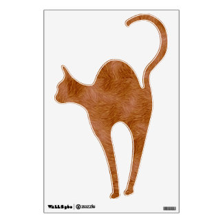 Cat Lovers Ginger Cat Wall Decal