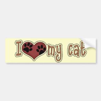 Cat Lover's Heart Paw Prints Bumper Sticker Car Bumper Sticker