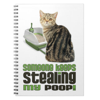 Cat Lovers Keep Track of your Poop Notebook
