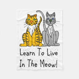 Cat Lovers Learn To Live In the Meow Blankets