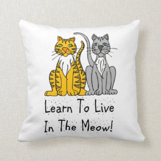 Cat Lovers Learn To Live In the Meow Pillows