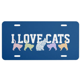 Cat Lover's License Plate