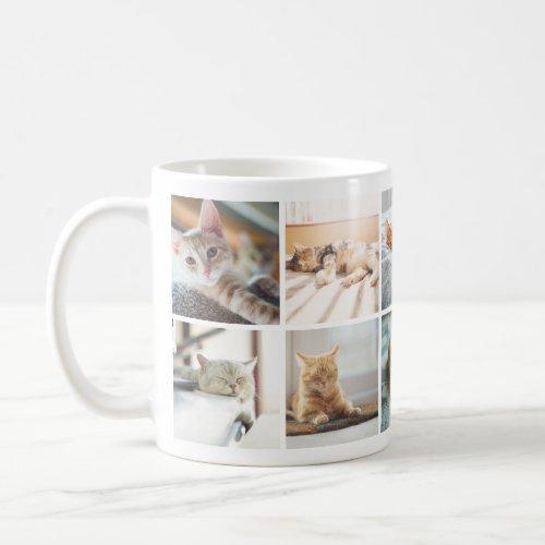 Cat Lovers Memories Photo Collage Mug