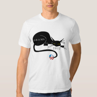 Cat Lovers Support Obama T-Shirt