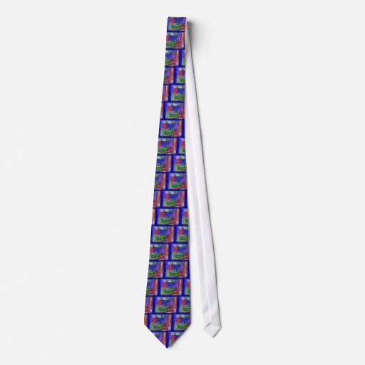 "Cat Lovers ""The Curious Abstract Cat"" Art Tie"
