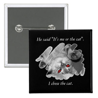 Cat Lover's Valentine's Button