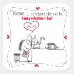 Cat Lover's Valentine's Day Sticker