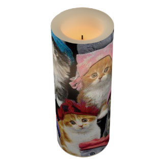 Cat Lovers Wrapped LED Candle