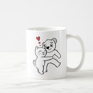 "Cat Loves Bear Mug ""Everybody Needs a Bear Hug"""