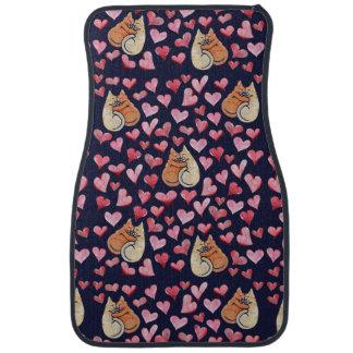 cat lovins car floor mat